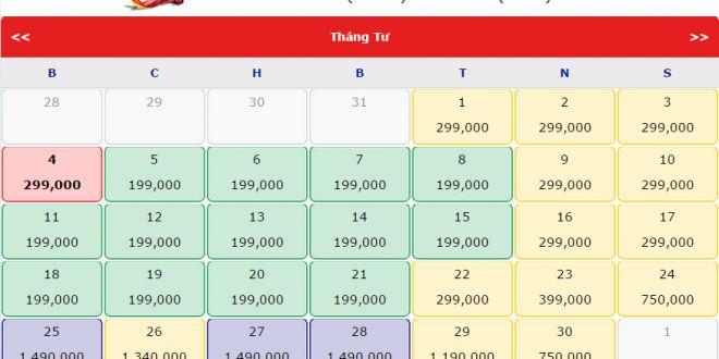 Vé máy bay giá rẻ trong tháng 4 của Vietjet Air 199.000 - 599.000