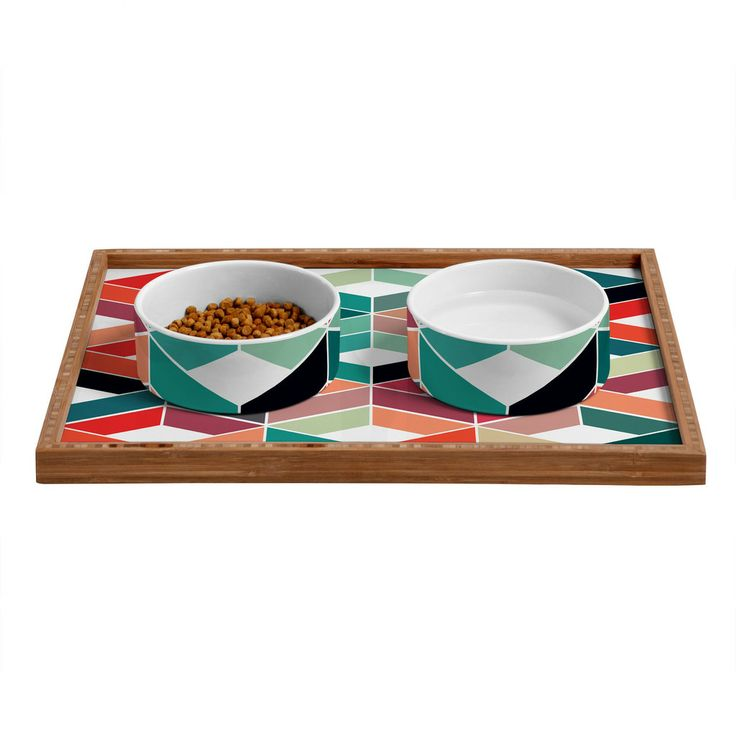 Three Of The Possessed Vintage Pattern Pet Bowl and Tray   DENY Designs Home Accessories