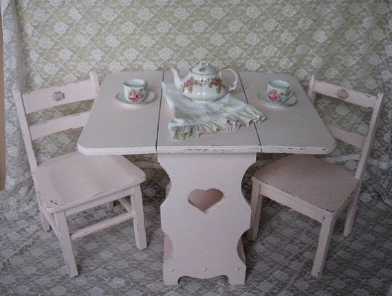 Shabby Chic Kids Table And Chair Set, Activity Table