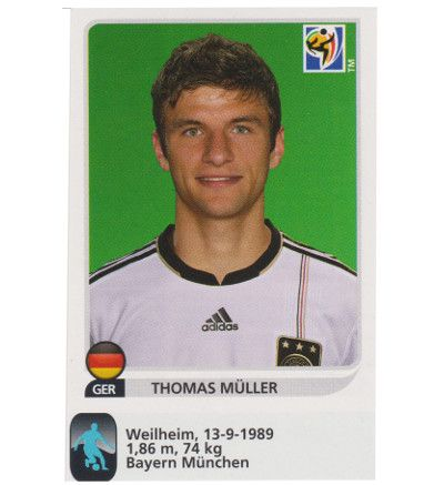 Panini WM 2010 Thomas Müller Update Sticker, Stickerpoint