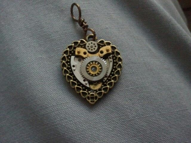by collectibles clockwork steampunk necklace p medieval heart