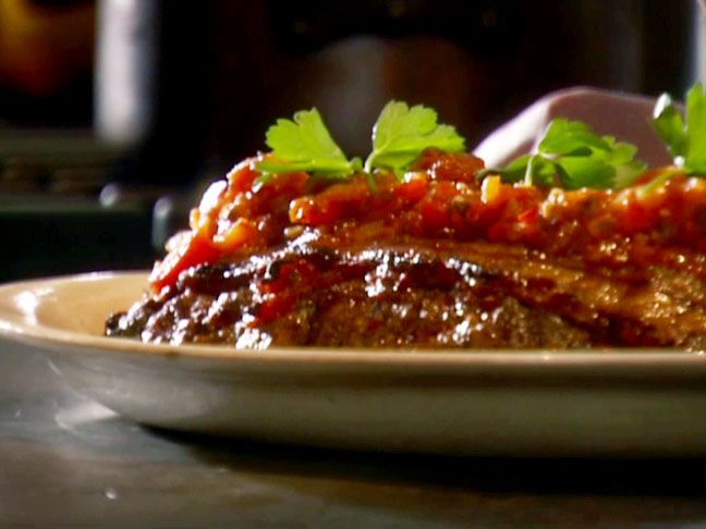 Dad's Meatloaf with Tomato Relish.  I haven't made this but I saw Tyler Florence make it and it looked amazing.  I saved it to my recipe book and will try it soon.
