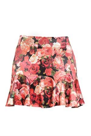 Saia Curta Babados Estampa Floral Vermelho - roupas-saias-iorane-f-saia-curta-babados-estampa-floral-vermelho Iorane