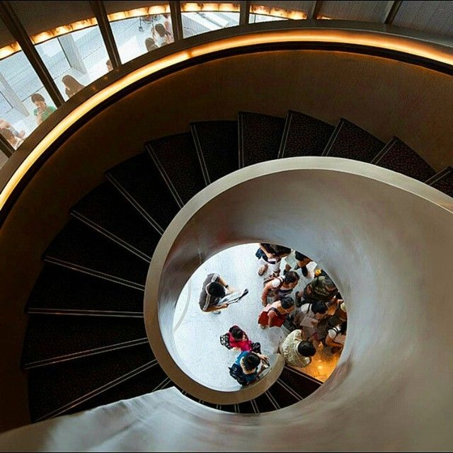 With the help of W Architects, #Singapore's oldest performing arts centre, Victoria Theatre and Victoria Concert Hall comes alive with this stunning #contemporary spiral #staircase. #warchitects #iremebervictoria #architecture #vtch #interiordesignmag... - Interior Design Ideas, Interior Decor and Designs, Home Design Inspiration, Room Design Ideas, Interior Decorating, Furniture And Accessories