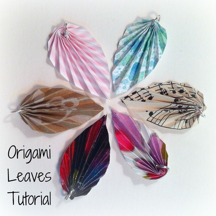 Stepping Thru Crazy: Origami Leaves