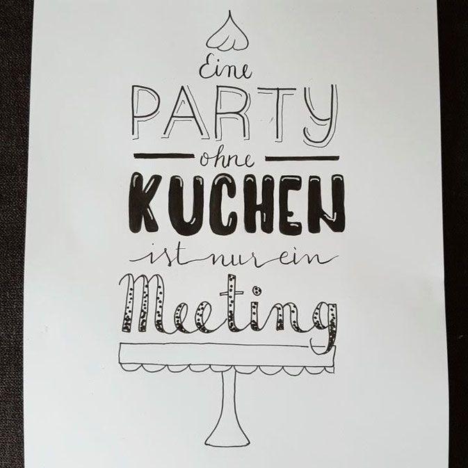 LetterLovers - iletterju - Handlettering: Party ohne Kuchen