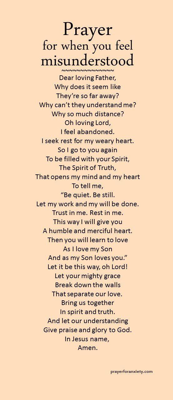 Prayer for when you feel misunderstood