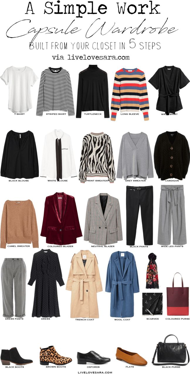 A Simple Capsule Wardrobe In 5 Some What Easy Steps