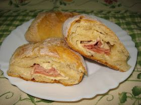Receitas práticas de culinária: Pães de leite com fiambre e queijo - para um lanche delicioso ou para levar para a praia