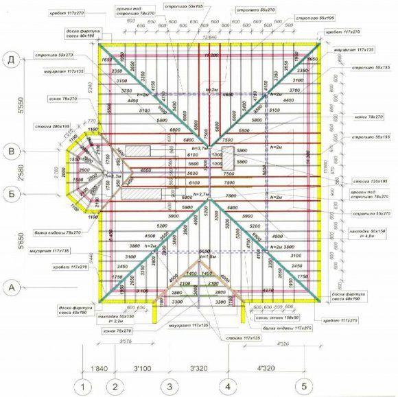 чертежи домов с мансардой - 3