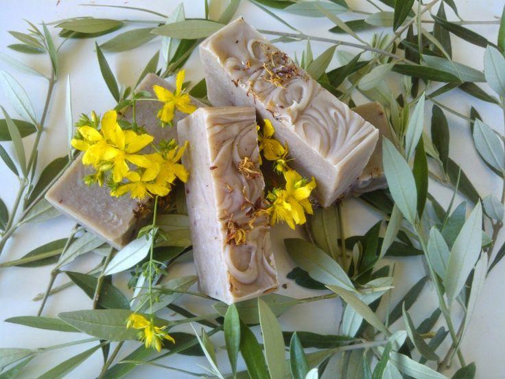 Χειροποίητα σαπούνια-Κεραλοιφές                                            Λαοδάμεια: σαπούνι βάλσαμο-άγρια ελιά