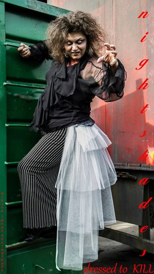 Zombie grey tulle tiered MEGA bustle gothic by NightshadesClothing