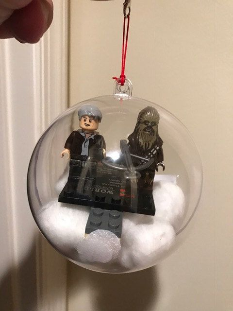 Lego Star Wars like christmas ornaments Han by TheForceofMarvel