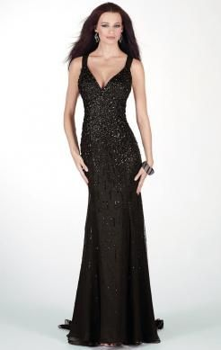 Beautiful Long Black Tailor Made Evening Prom Dress (LFNAC0055) in http://www.marieprom.co.uk/black-prom-dresses