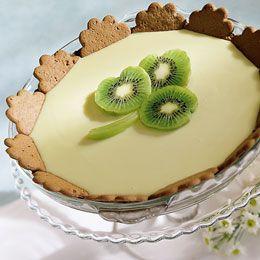 Kiwi Lime PieDesserts Recipe, Keys Limes Pies, Clovers, Pies Recipe, Food, St Patricks Day, Kiwi Limes, Pie Recipes, Key Lime Pies