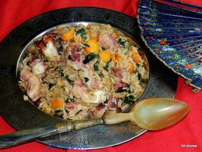 Moje Małe Czarowanie: Ośmiornica z ryżem po portugalsku