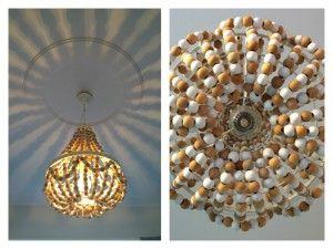 DIY lamp babykamer. Kralen kroonluchter