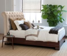 Leather Beds direct from Charles P. Rogers Beds, America's best source for high quality leather and upholstered beds.