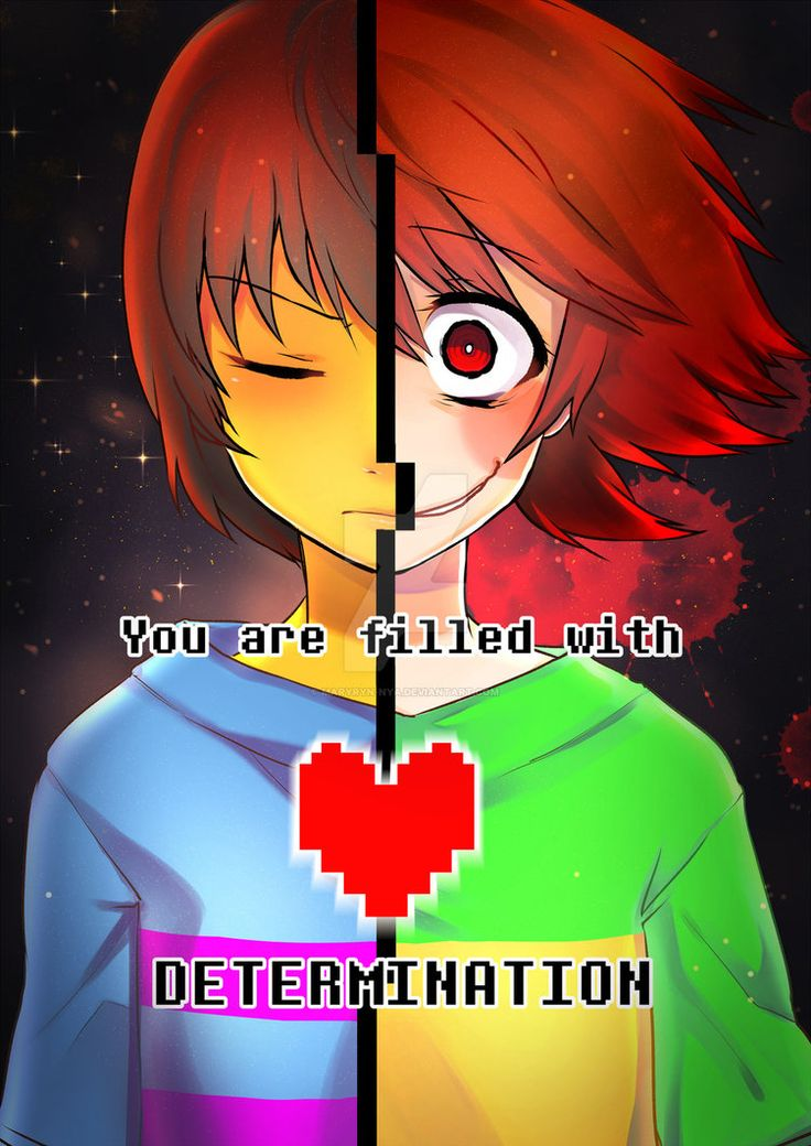 DETERMINATION - Chara and Frisk - Undertale by Maryryn-Nya on DeviantArt