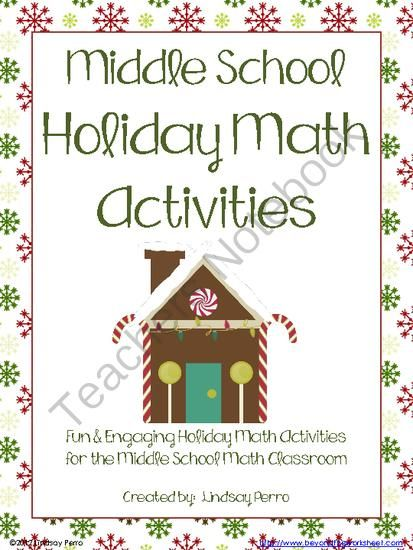 Christmas crafts for middle school : Holiday math activities for middle school from beyond the