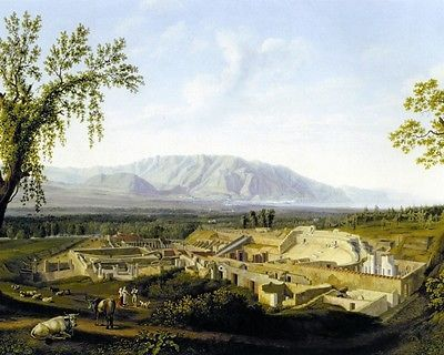 Pompeii Ruins Italy Italian Landscape Fine Art Painting Real Canvas 8X – Maskery & Lund