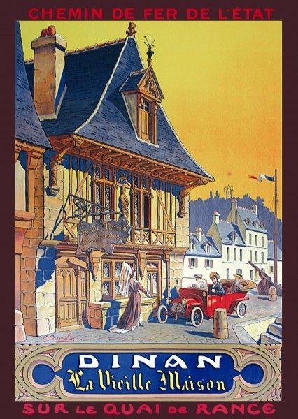 §§ DINAN BRETAGNE- Une affiche ancienne §§