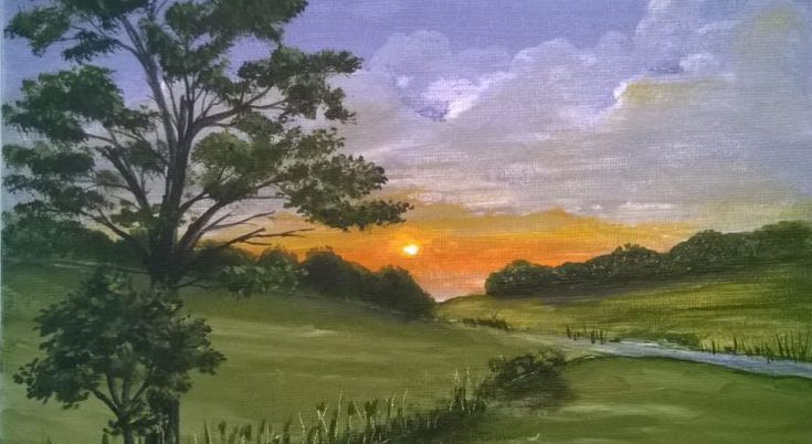 Onlinemalkurs - stimmungsvolle Landschaftsmalerei. Probiert ihn letzt kostenlos aus!