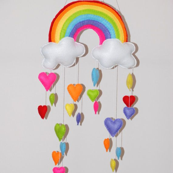 Rainbow and hearts