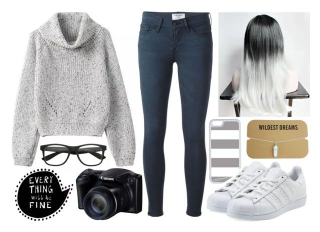 """""""Untitled #586"""" by laurahipster ❤ liked on Polyvore featuring Frame Denim, CellPowerCases and adidas Originals"""