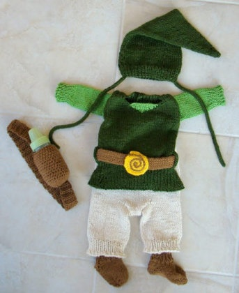 I think Nate would probably give me bonus points if I figured out a Link costume for Elliot to wear.
