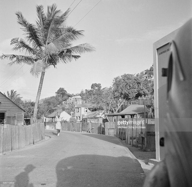 A local girl walks down the street