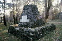 The memorial to those who perished in the shipwreck lies in nearby bushland. Photo by: David Nutley