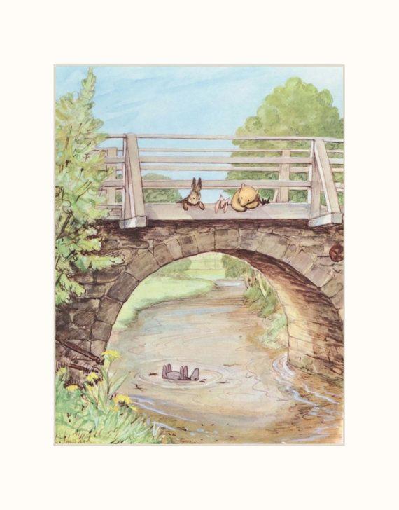 pooh-bear. i want them! Nursery Print Baby Decor Classic Winnie the by CloudNinePrints