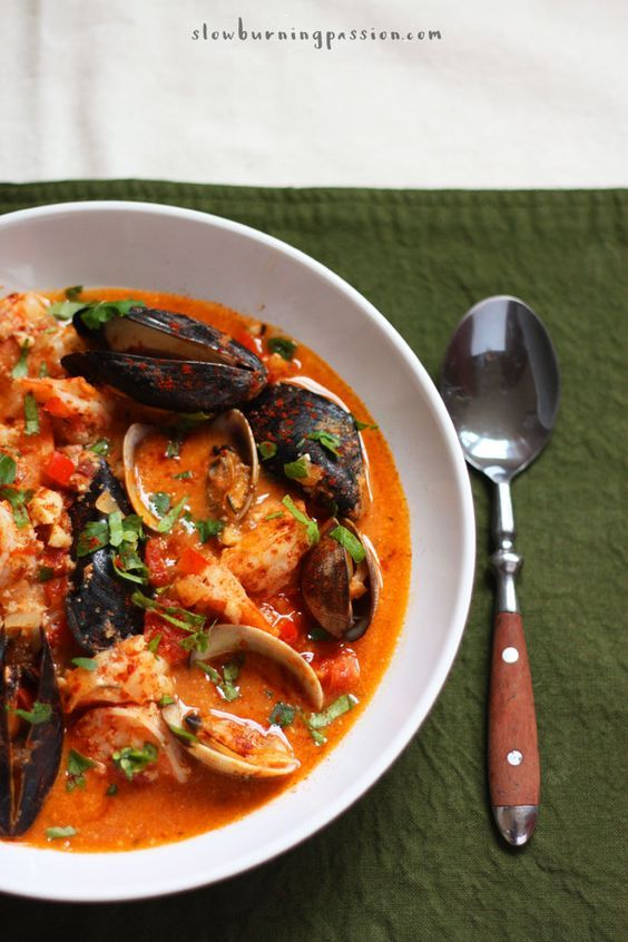 Zarzuela de Mariscos is an amazing shellfish and seafood stew from the Catalan coastal region of Spain. it's bold, rustic, and intensely flavorful.