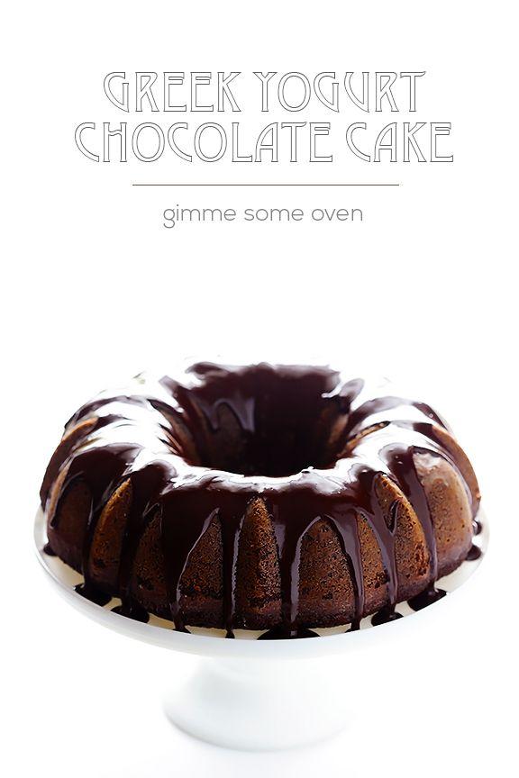 Greek Yogurt Chocolate Cake | gimmesomeoven.com #dessert
