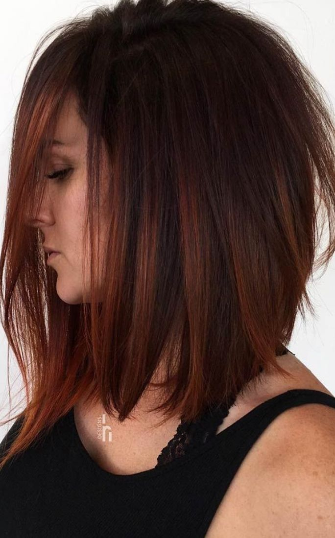 Copper Highlights For Brown Hair Kupfer Highlights Fur Braunes