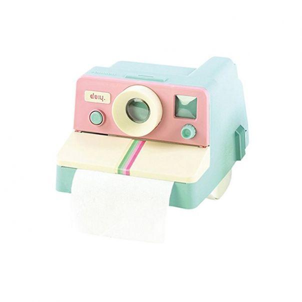 Distributeur de papier toilette en forme de Polaroid couleur DOIY POLAROLL COLOR