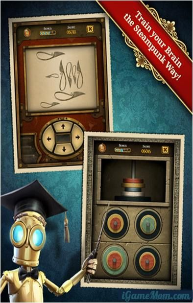 Fun Brain Training Games - Clockwork Brain a free app with 5 games free, 8 games available via In-App Purchase. #kidsApps