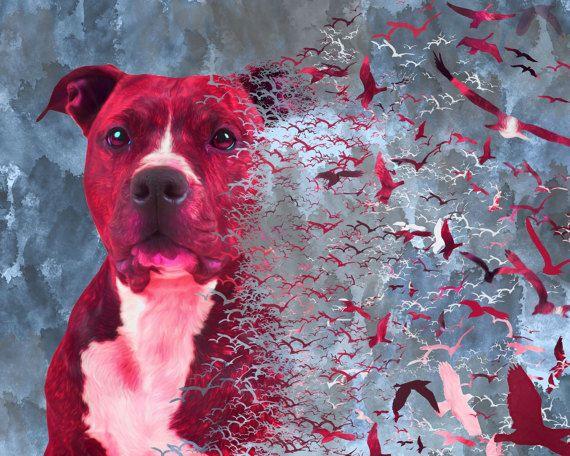 Dog portrait custom Dog memorial portrait by MelaCustomPortraits