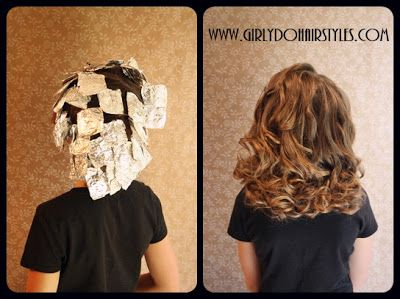 Foil Curls! Easily some of the most beautiful and longest lasting curls around. #sopretty #hairstyles #curlyhair