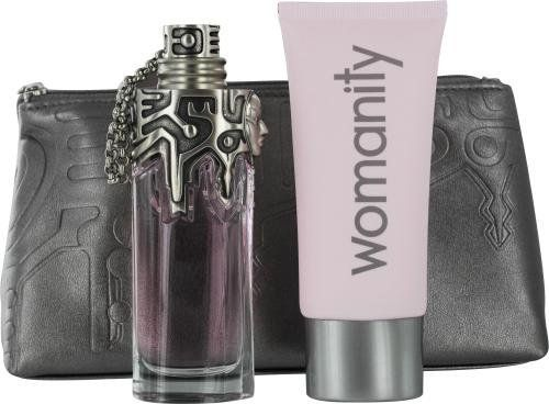 Womanity by Thierry Mugler (Set of 3) by Thierry Mugler. Save 45 Off!. $48.19. For Casual Use. Fragrance Introduced in 2010 by Thierry Mugler. Notes Consist Of Fig Wood. THIERRY MUGLER WOMANITY by Thierry Mugler Set-Eau De Parfum Refillable Spray 1.7 Oz & Body Milk 3.3 Oz & Clutch for Women