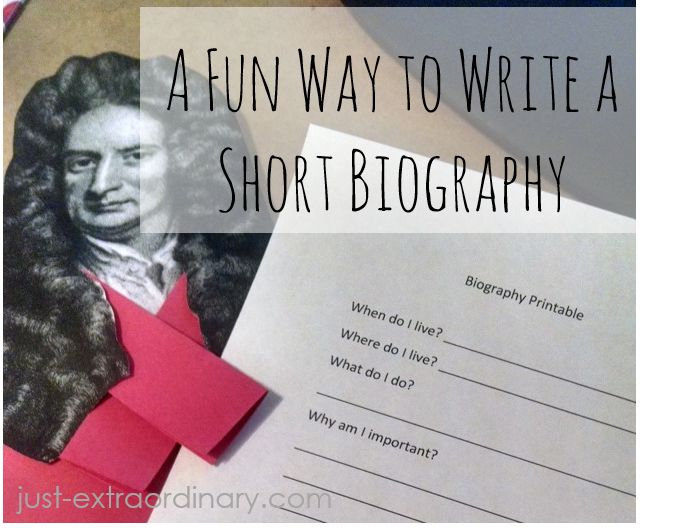 Biography writing assessment