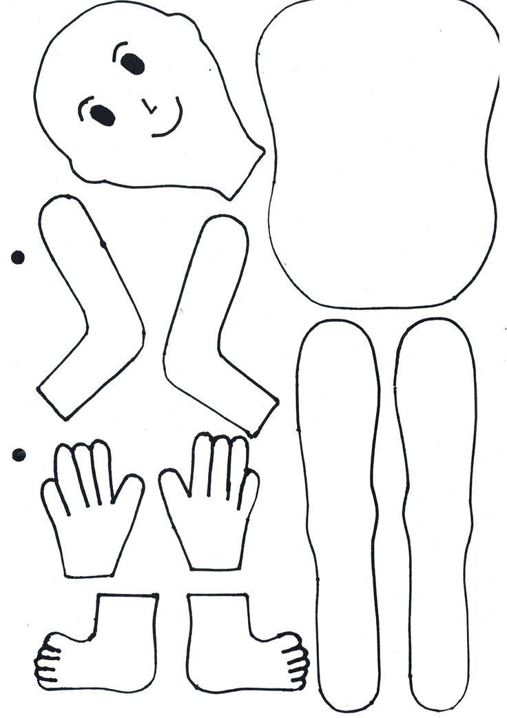 Free body template at www.greatteachingideas.net