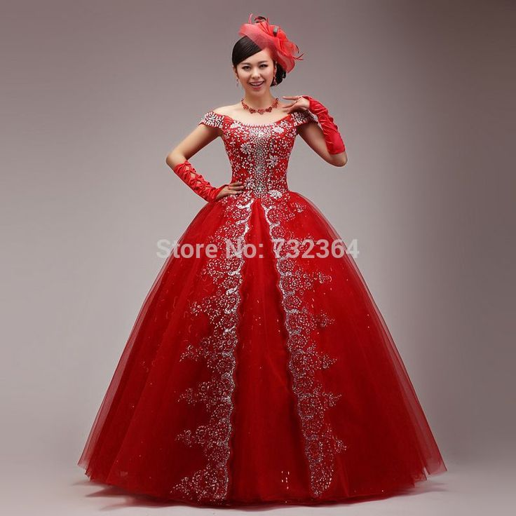 Cheap Ball Gown Evening Dress Buy Quality Designs Directly From China Sale Suppliers Full Rhinestone Red Medieval