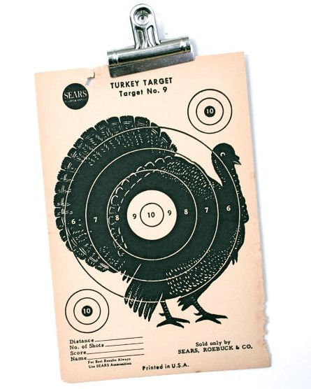 Thanksgiving turkey decor vintage original s