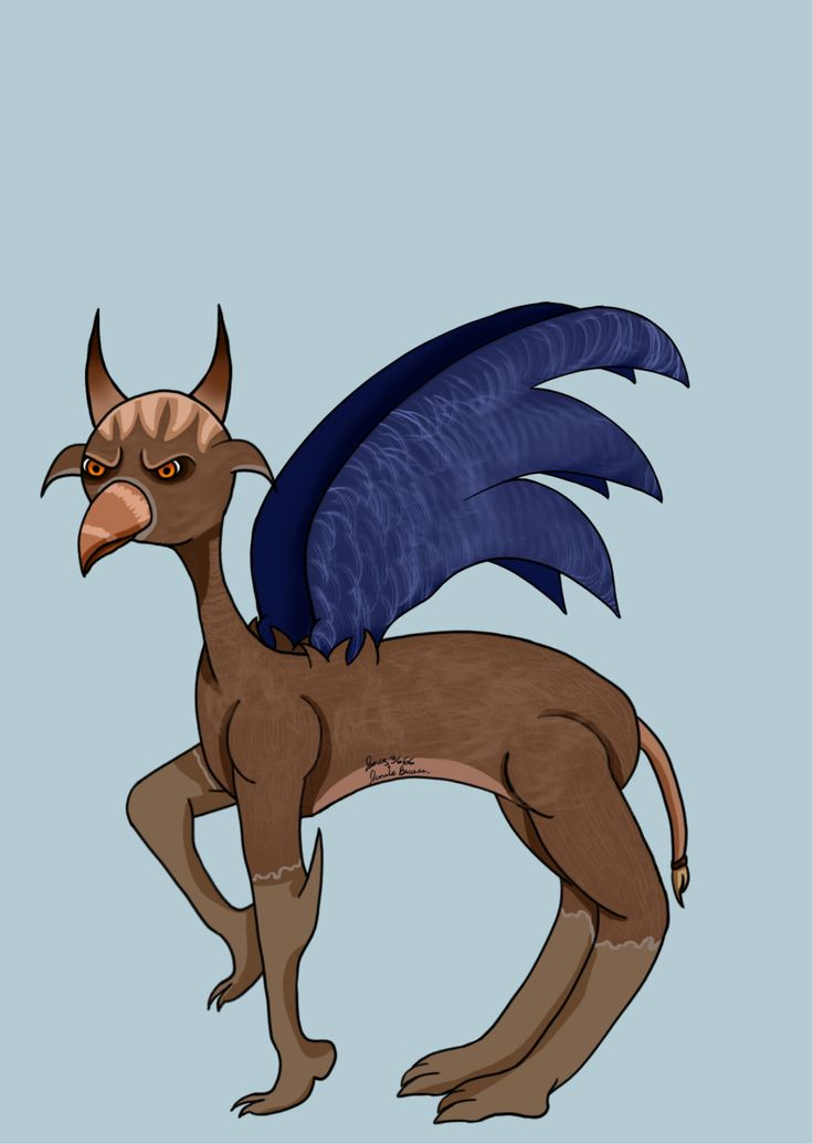 Mythical Beast #digital drawing #hand drawing #Microsoft Pro 4 drawing tablet
