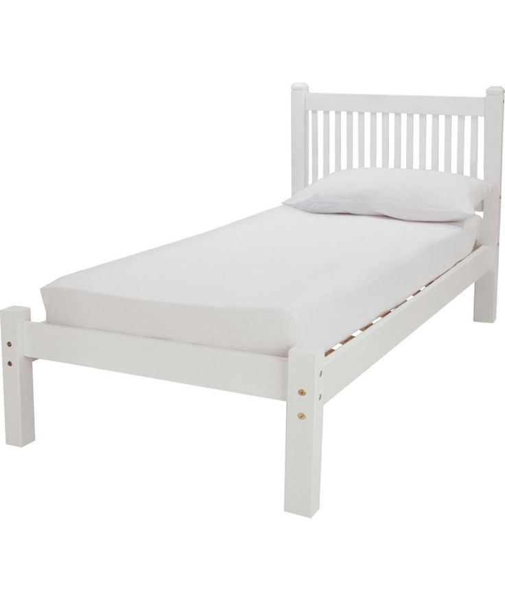Buy Avebury Single Bed Frame - Whitewash at Argos.co.uk - Your Online Shop for Beds, Limited stock Home and garden, Bed frames.