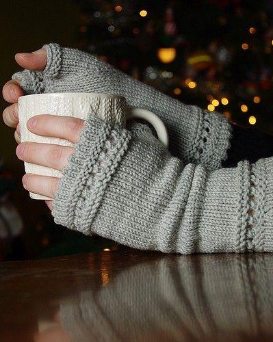 MES FAVORIS TRICOT-CROCHET: Modèle gratuit : Mitaines au tricot
