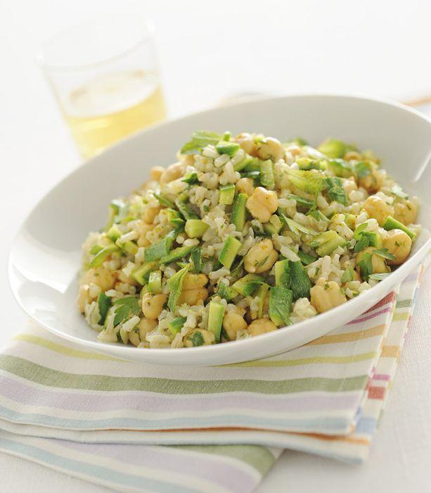 Insalata di riso integrale con zucchine e ceci - Scuola di cucina - Donna Moderna#dm2013-su-titolo#dm2013-su-titolo