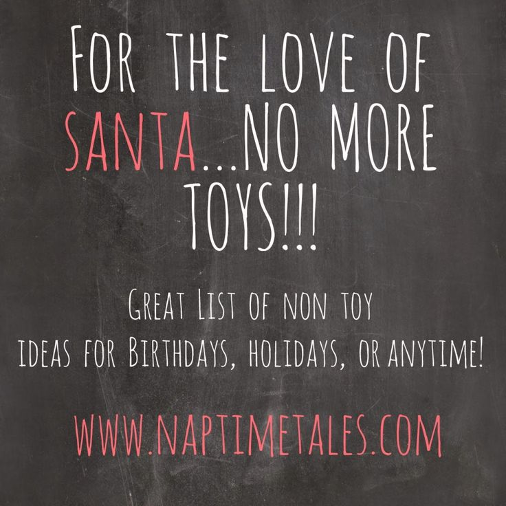 A great list of non toy gift ideas for kids. #experiences ...